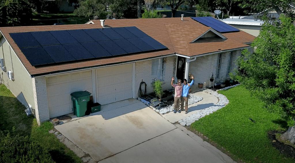 Going Solar in San Antonio Roof Mount installation