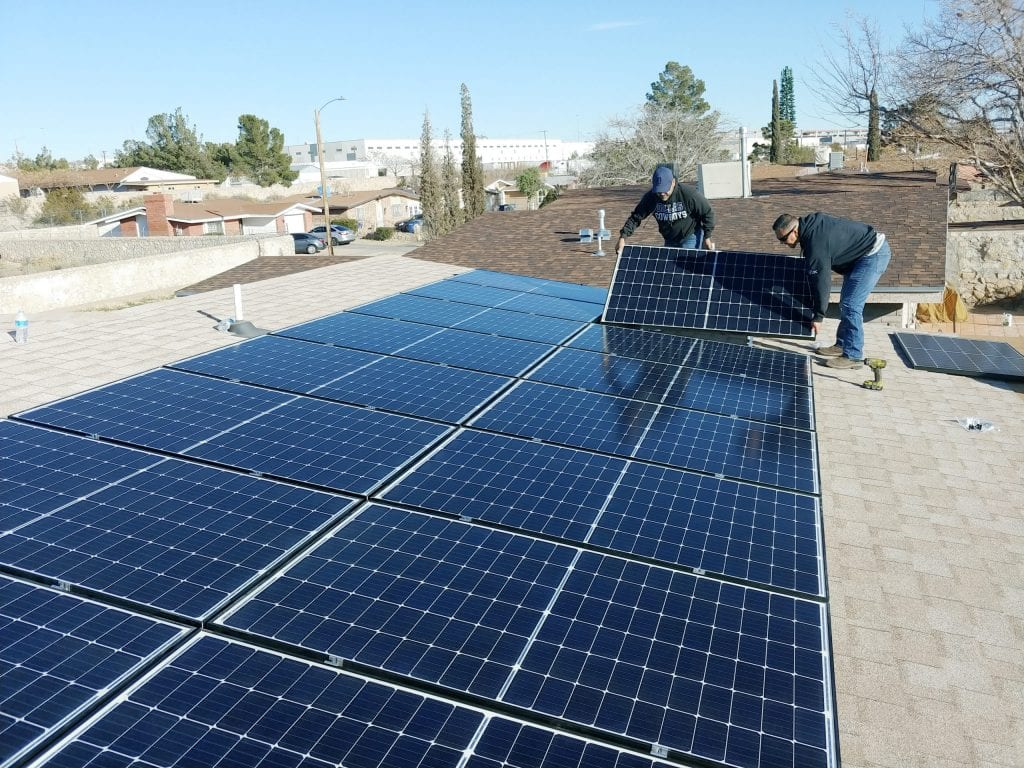 Roof mount solar panels